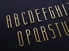 Brass Alphabet Letters for House Door Address Signs