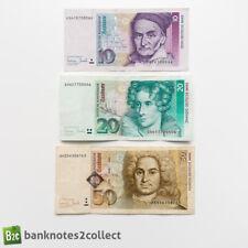 More details for germany: set of 3 german mark banknotes.
