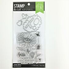 Hero Arts Stamp & Cut Daisy And Bugs Clear Stamp Die Set Flower Bee Phrases