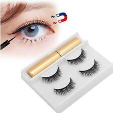 2 Paar magnet Wimpern + 1 Eyeliner falsche Wimpern | kein Kleber erforderlich F4