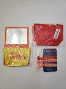 New HelloFlo Period Guide Swag Kit Lot Bag Hair ties Locker Mirror Hello Flo