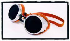 Occhiali Vintage Baruffaldi  101 Sar Lenti Scure Googles Alluminio e Cuoio
