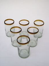 Mexican Glassware - Amber Rim drinking glasses (set of 6)
