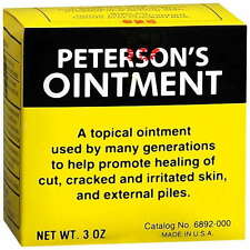 Peterson's Ointment 3 oz (85gm) - Promote Healing of Irritated Skin & Hemorroids