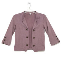 Maurices Knit Open Front Cardigan Sz M Heather Red Purple Band Major 3/4 Sleeve