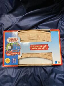NEW 6 1/2' Curved Track Thomas Tank Engine Wooden train RETIRED LEARNING CURVE