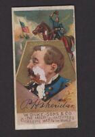 1888 W. Duke Sons & Co. Great Americans N76 P.H. SHERIDAN