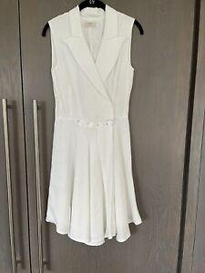 100% Capri Linen White Dress , Size XS