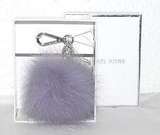 Michael Kors Schlüssel-Taschen-Anhänger Neu MD Fur Pom lilac flieder Charm Pelz