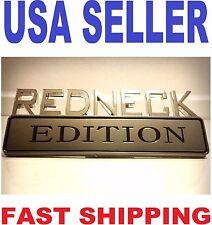 REDNECK EDITION car truck PORSCHE DECAL JAGUAR EMBLEM logo SUV SIGN ornament ..