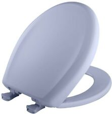Closed Front Toilet Seat Round Standard Plastic Oxford Blue Whisper Close