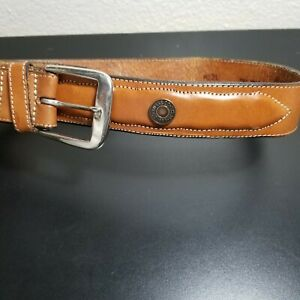 Levi's 4131 Men's Statment Natural Leather Color Belt Size 32 Full Grain Cowhide