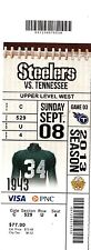 2013 PITTSBURGH STEELERS VS TENNESSEE TITANS TICKET STUB 9/8/13 OPENING GAME