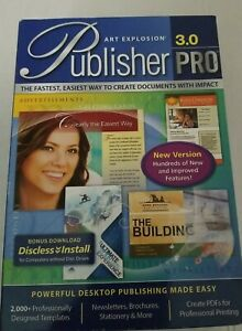 Art Explosion Publisher Pro 3.0  Software Windows - NEW Factory Sealed