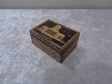 Gomel Souvenir Holz Kästchen - Russland - Vintage - Strohverzierungen