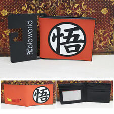 "Anime DragonBall Z ""悟"" Logo Wallet Money Clip Purse Card Holder Cosplay Notecas"