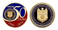 """NCIS NAVAL CRIMINAL INVESTIGATIVE SERVICE NAVY 50 YEARS 2""""  CHALLENGE COIN"""