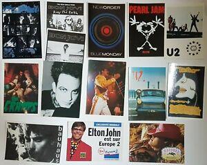 LOT DE +50 CARTES POSTALES (80s) ♦ U2, The Cure, REM, Sting, New Order, Prince ♦