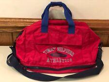 Tommy Hilfiger Red 100% Nylon Athletics Duffle/Gym Bag