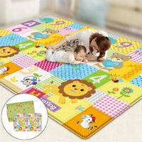 2 Size Cartoon Baby Crawling Thick Play Cover Mat Game Rug Waterproof Floor