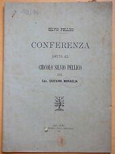 1892-SILVIO PELLICO Conferenza-Can.GIOVANNI MURAGLIA-SANREMO