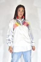 DIADORA Felpa Bianca Manica Lunga Multicolore Sportiva TG M Donna Woman