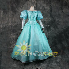 The Little Mermaid Cosplay Gown Ariel Costume Princess Dress Puff Sleeves Outfit
