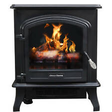 Decor Flame Infrared Stove Heater, Electric Fireplace 1500 Watt, w/ Thermostat