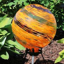 Sunnydaze Sunset Sky Glass Outdoor Gazing Ball Globe - 10-Inch - Set of 2