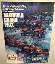 Original vintage Race Poster Michigan Grand Prix Iroc Series 1973