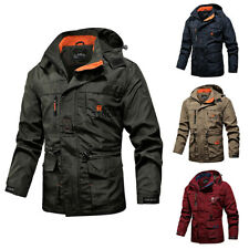 Mens Winter Warm Waterproof Tactical Jacket Hooded Outdoor Military Coat Outwear