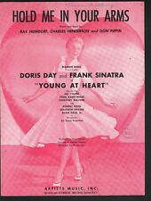 Hold Me In Your Arms 1954 Doris Day Frank Sinatra in Young At Heart Sheet Music