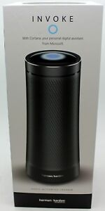 Black Harman Kardon iPhone/iPad/Android Wifi Invoke Microsoft Cortana Speaker