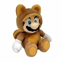 Super Mario Bros 21 cm Official Sanei Tanooki Mario Plush Toy