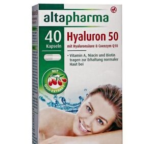 Altapharma Hyaluron 50 with Hyaluronic Acid & Coenzyme Q10 with goji extract New