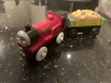 Thomas Wooden Railway Paquete de coche Raro Rheneas And Fossil