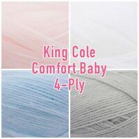 King Cole Baby Comfort 4ply Acrylic Knitting Wool Yarn 100g