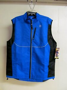 Men's L/XL (42-48) Gold's Gym GG10MT Blue/Black Polyester Reflective Vest