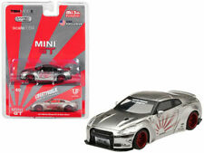 Mini GT 1:64 Liberty Walk LB Works Nissan GT-R R35 MGT00049 Diecast Car Silver