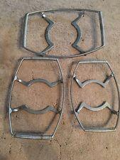 Set of 3 Vintage Corning Ware Casserole dish metal serving cradle trivet