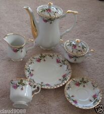 SECRET GARDEN POLISH 21 PIECE TEA / COFFEE SET FINE BONE CHINA SG13 MINT IN BOX