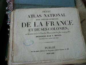 Atlas NATIONAL de departements de la FRANCE 1833