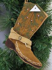 Cowboy Boot Christmas Ornament Mini Stocking Money Gift Card Holder New Felt
