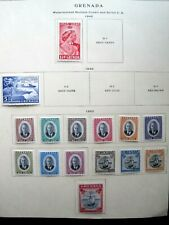 GRENADA : 15 STAMPS 1948, 49, 50 (MH)