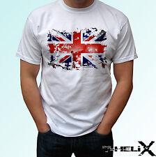 Great Britain flag - white t shirt top GB England design - mens womens kids baby