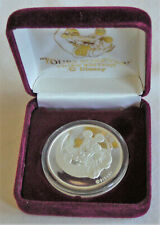 YOURS FOREVER Mickey and Minnie Mouse collectible 1 ounce .999 Silver Coin 1991