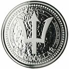 2018 1 Oz Silver $1 Barbados TRIDENT Proof-Like Coin.