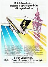 Publicité Advertising 067  1971   British Caledonian  Lion d'or  Jet Bac 1-11