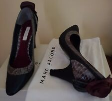 MARC JACOBS Scarpe Decollete' pitone metalizzato Shoes rose pythone Luxus Schoe
