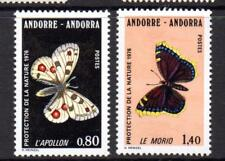 ANDORRA (FRENCH) MNH 1976 SGF277-278 NATURE PROTECTION - BUTTERFLIES